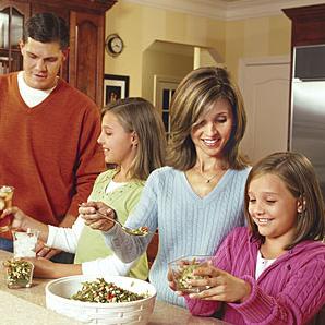 healthy-family stock