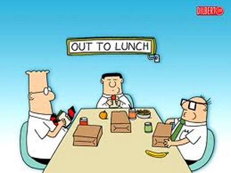 out to lunch dilbert
