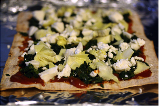 spinach pizza #2