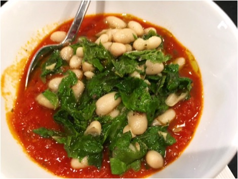 Tomato Beans and greens