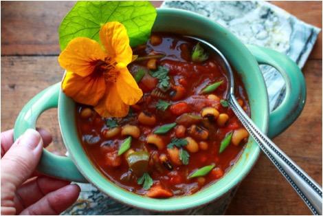 Black Eyed Pea Sweet Potato Chili
