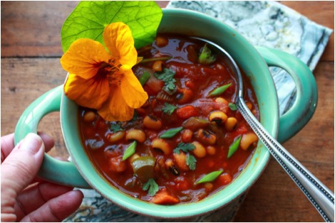 Black Eyed Pea Sweet Potato Chili